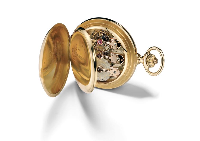 Tourbillon Pocket Watch with 3 Gold Bridges