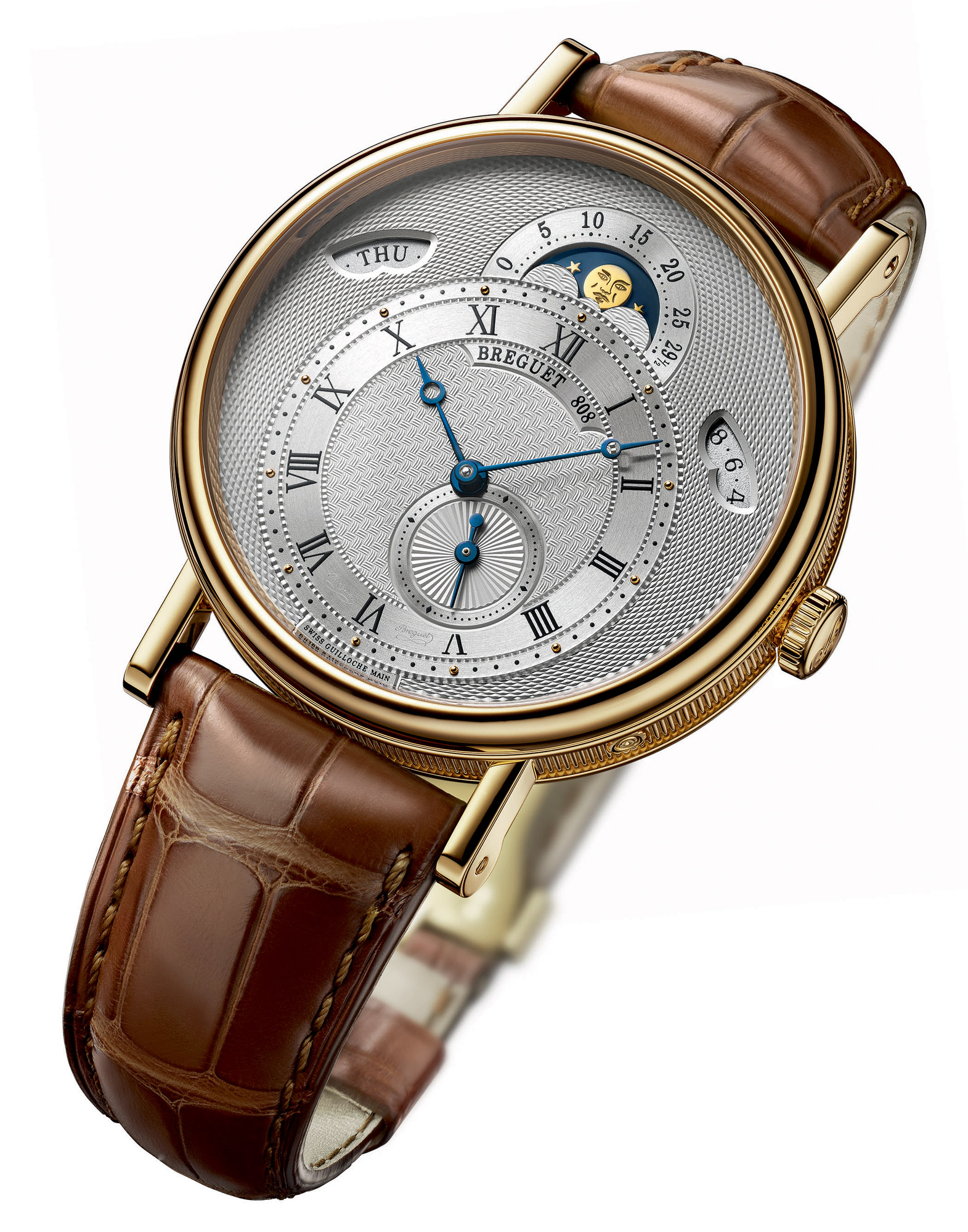 Breguet Classique 7337 (Silvered 18 Carat Gold Dial Hand-engraved)
