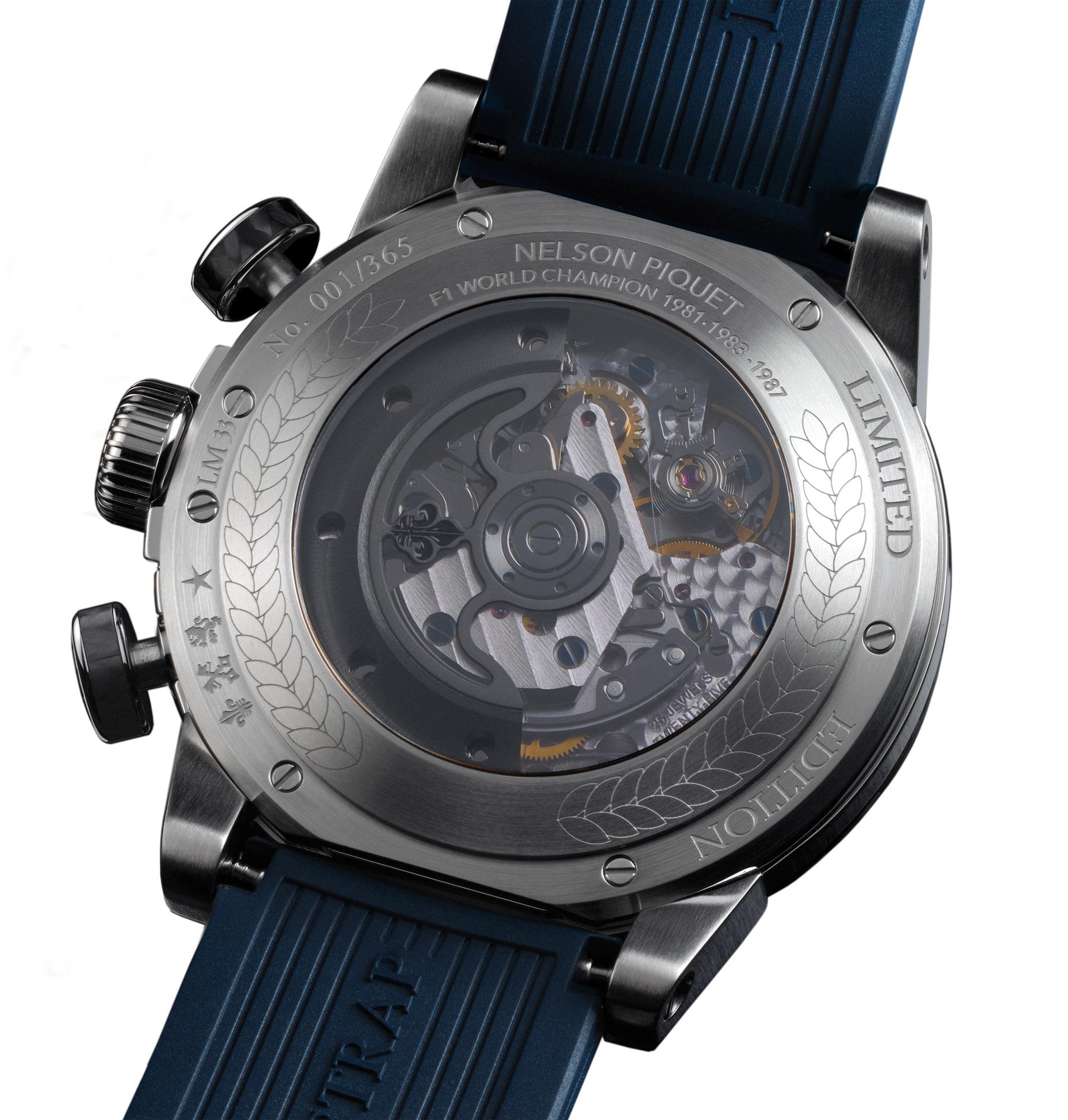 Louis Moinet Nelson Piquet Chronograph - Caseback