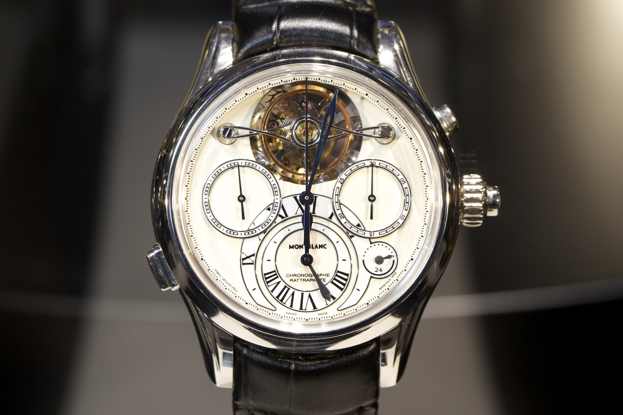 SIHH 2014 Montblanc Villeret Collection 1858 - Exo Tourbillon Rattrapante