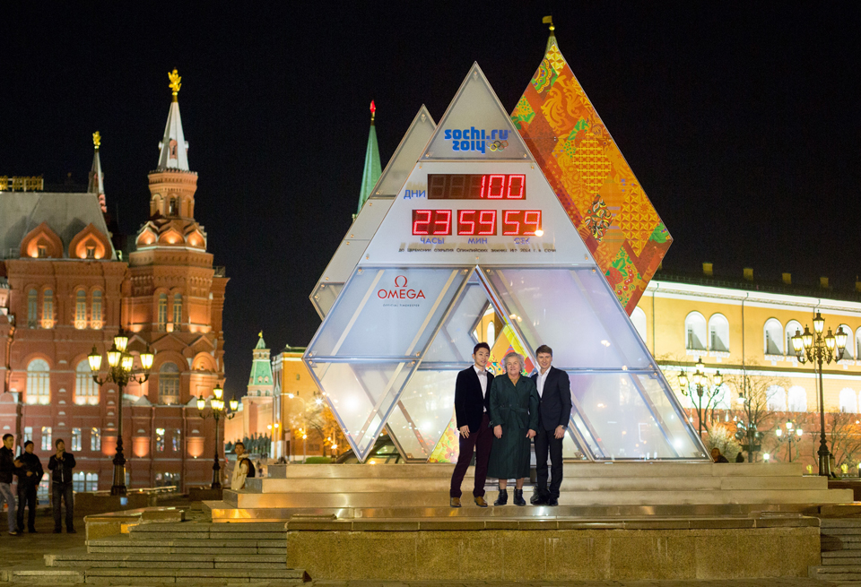 Omega 100 Day Countdown for Olympic Winter Games 2014 in Sochi