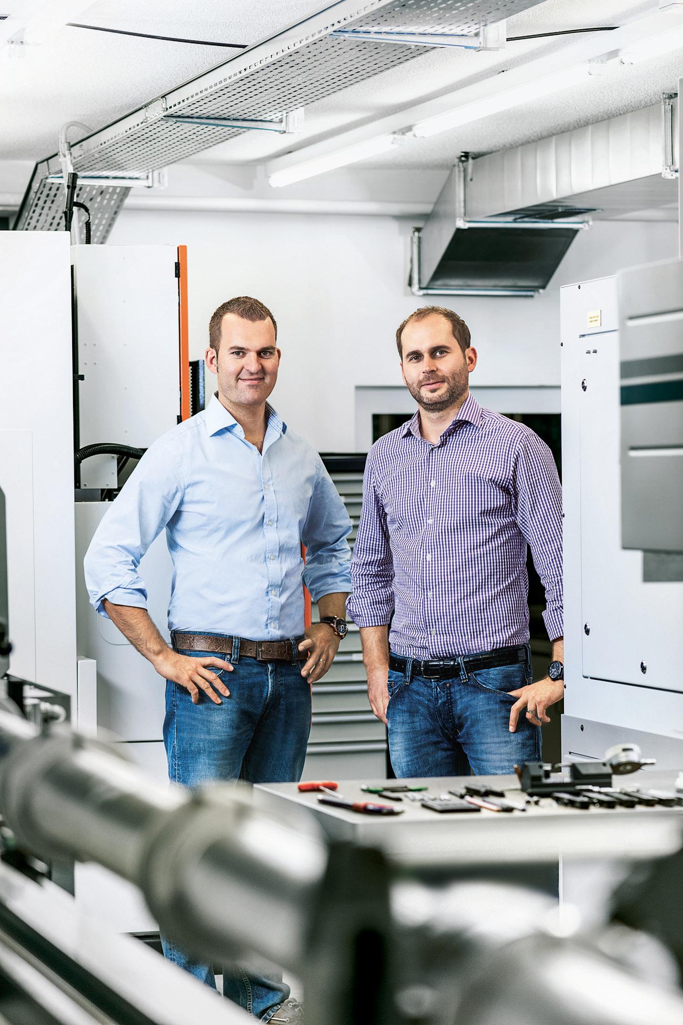 Claude Greisler (left) and Serge Michel