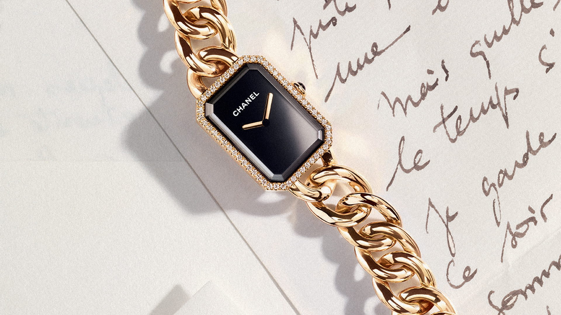 Chanel Premiere Watch - Gold with Diamonds