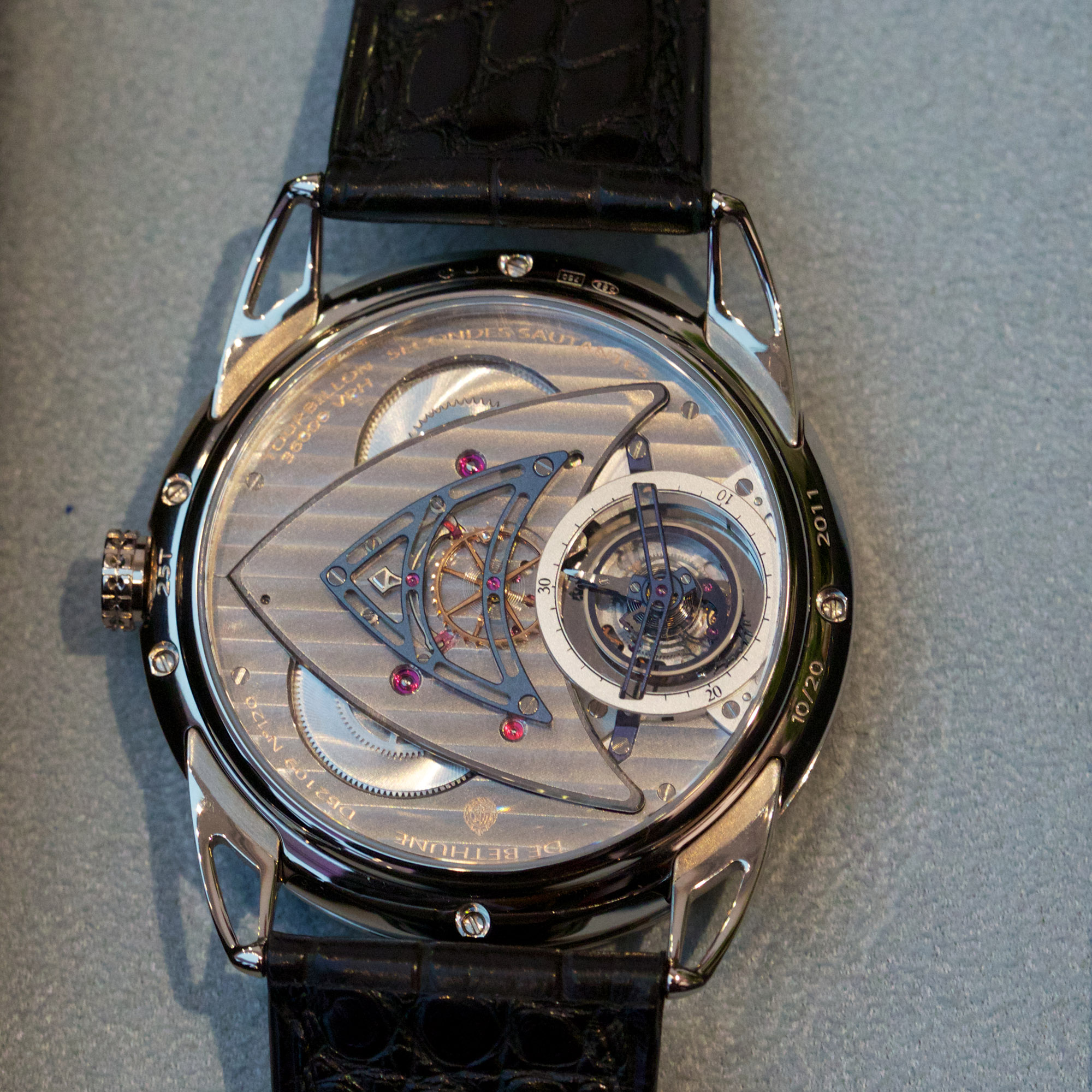 De Bethune DB25T Tourbillon Regulator - Caseback
