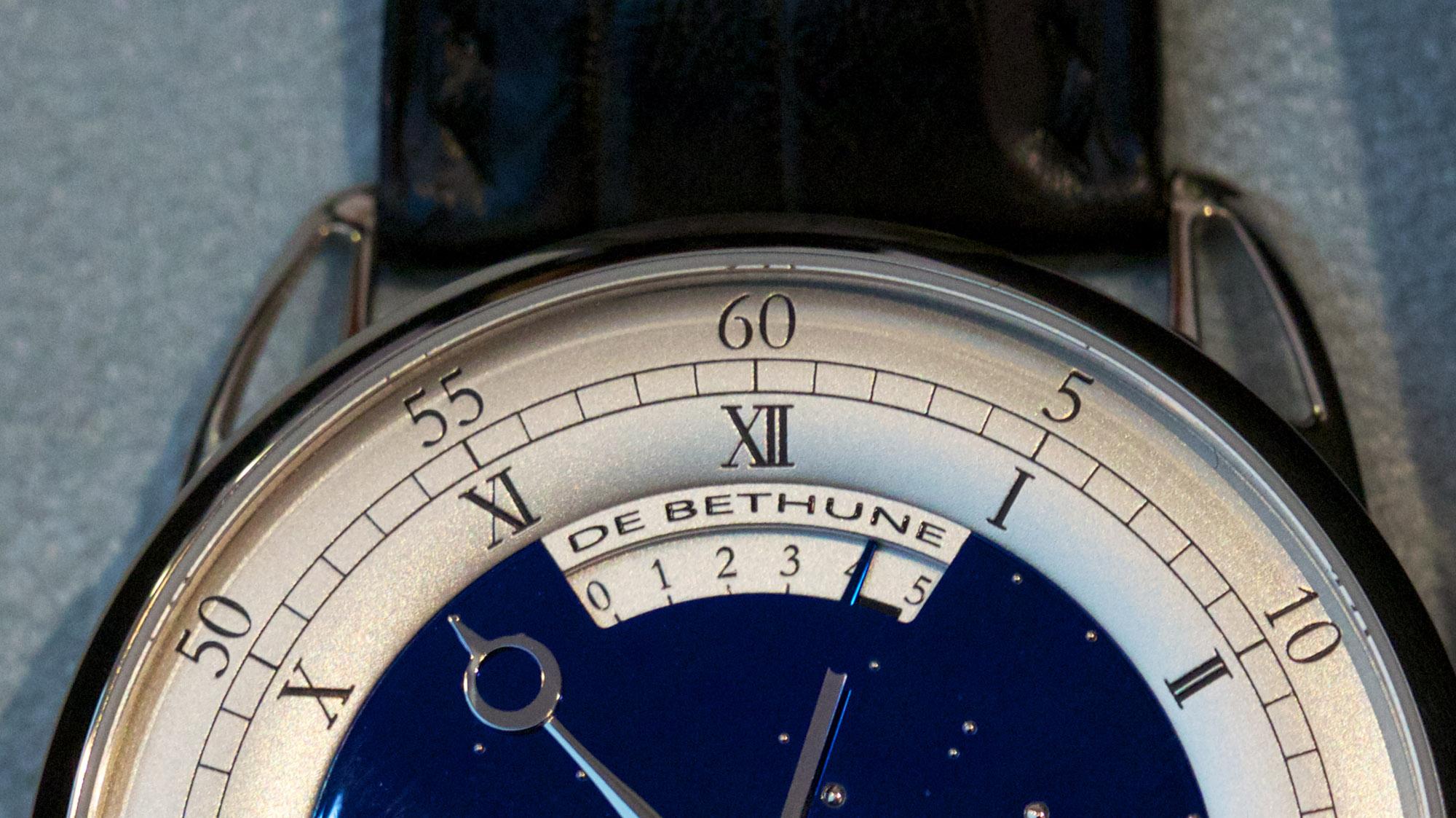De Bethune DB25T Tourbillon Regulator - Dial