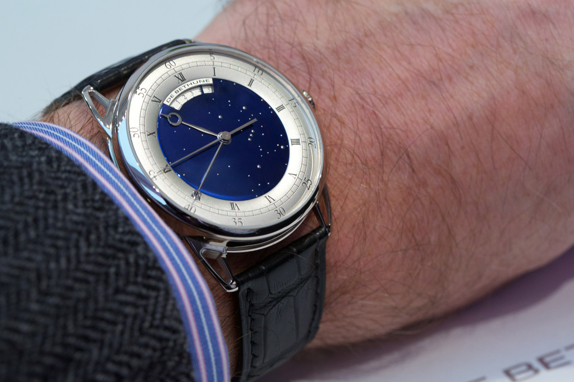 De Bethune DB25T Tourbillon Regulator - Wristshot