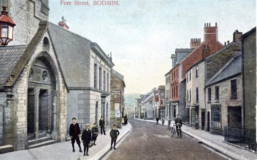 Early Photograph of Fore Street in Bodmin