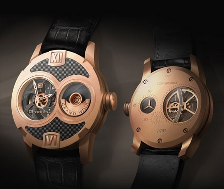 Gresso Grand Wind Skeleton Watch - Rose Gold
