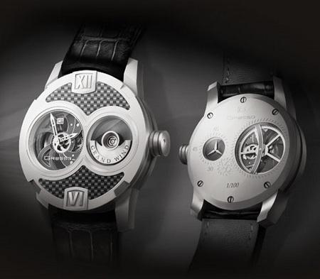 Gresso Grand Wind Skeleton Watch - White Gold