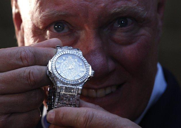 Hublot 5 Million Dollar Big Bang held by Jean-Claude Biver