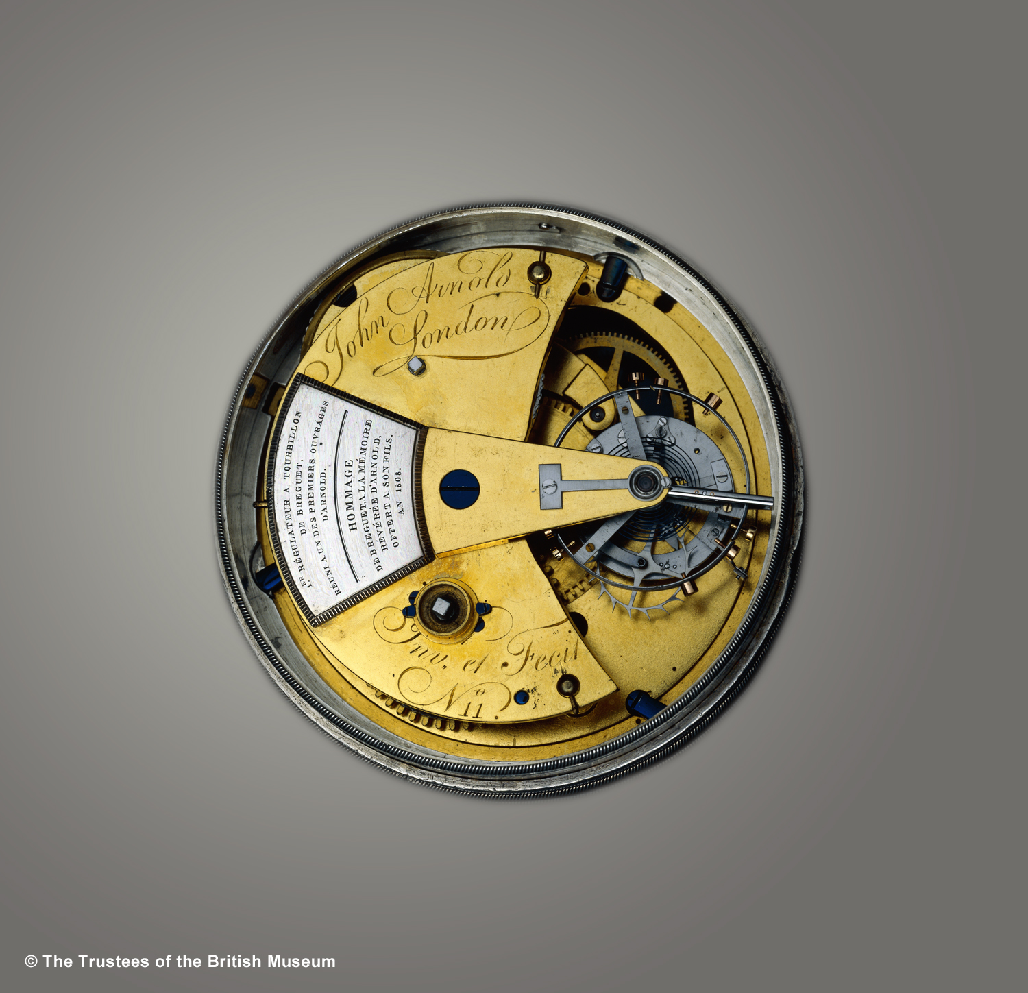 John Arnold and A.L. Breguet Chronometer with Tourbillon (1808)