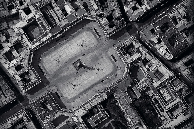 Aerial View of the Place Vendome in Paris