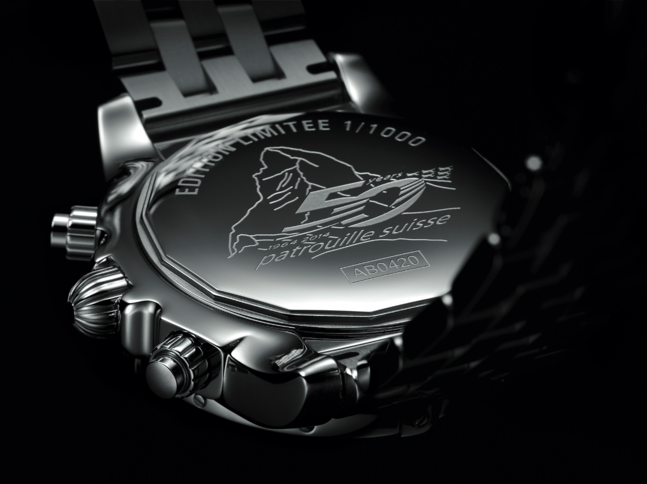 Breitling Chronomat 44 GMT Patrouille Suisse 50th Anniversary - Caseback