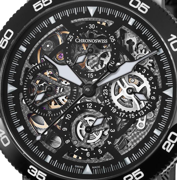 Chronoswiss Timemaster Chronograph Skeleton - Dial
