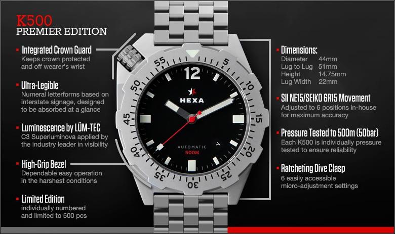 Hexa K500 - Technical Specifications