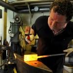 Johan Gustafsson making Damascus Steel
