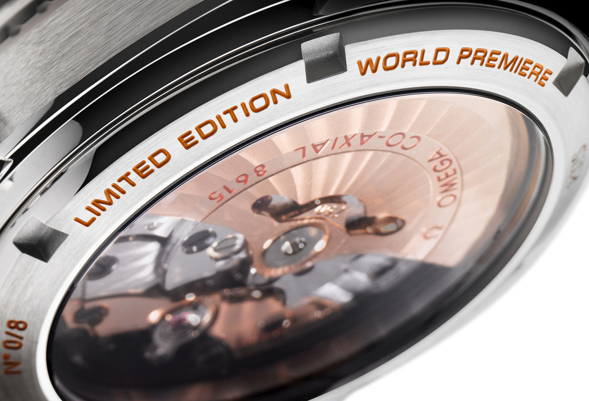 Omega Seamaster Planet Ocean GMT Orange Ceramic - Caseback