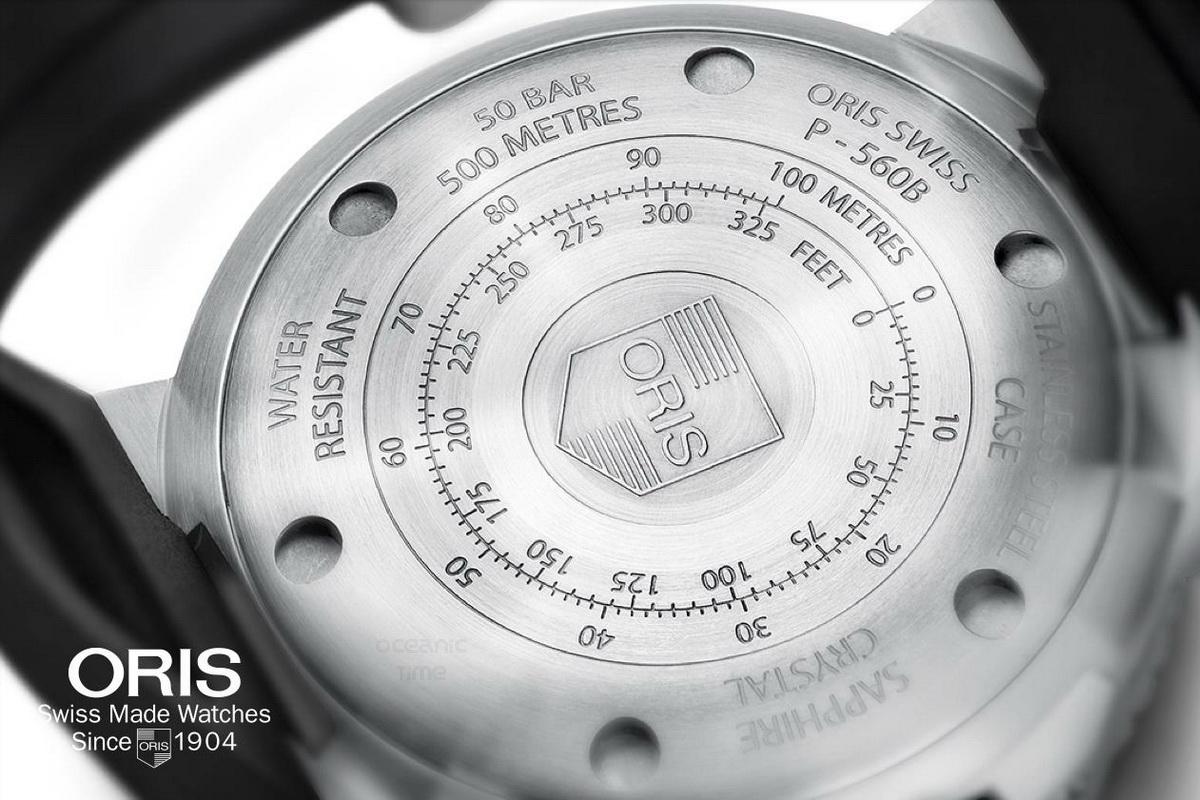 Oris Aquis Depth Gauge - Caseback
