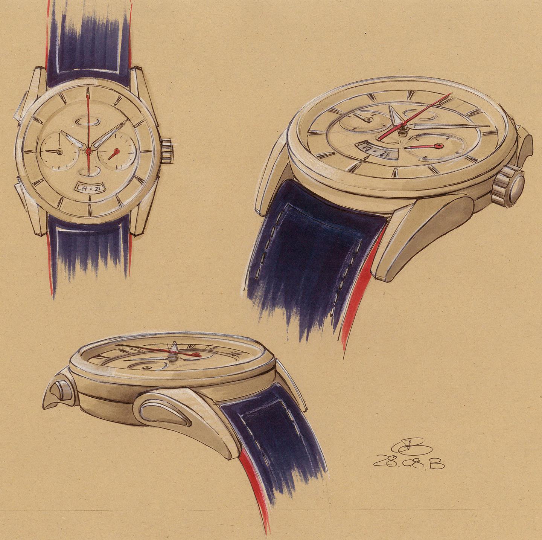 Parmigiani Fleurier Bugatti Aerolithe - Sketches