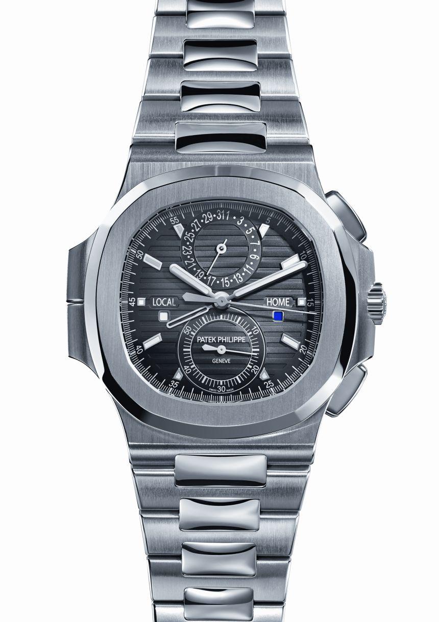 Patek philippe 5990 nautilus travel time chronograph baselworld 2014 for Patek philippe nautilus