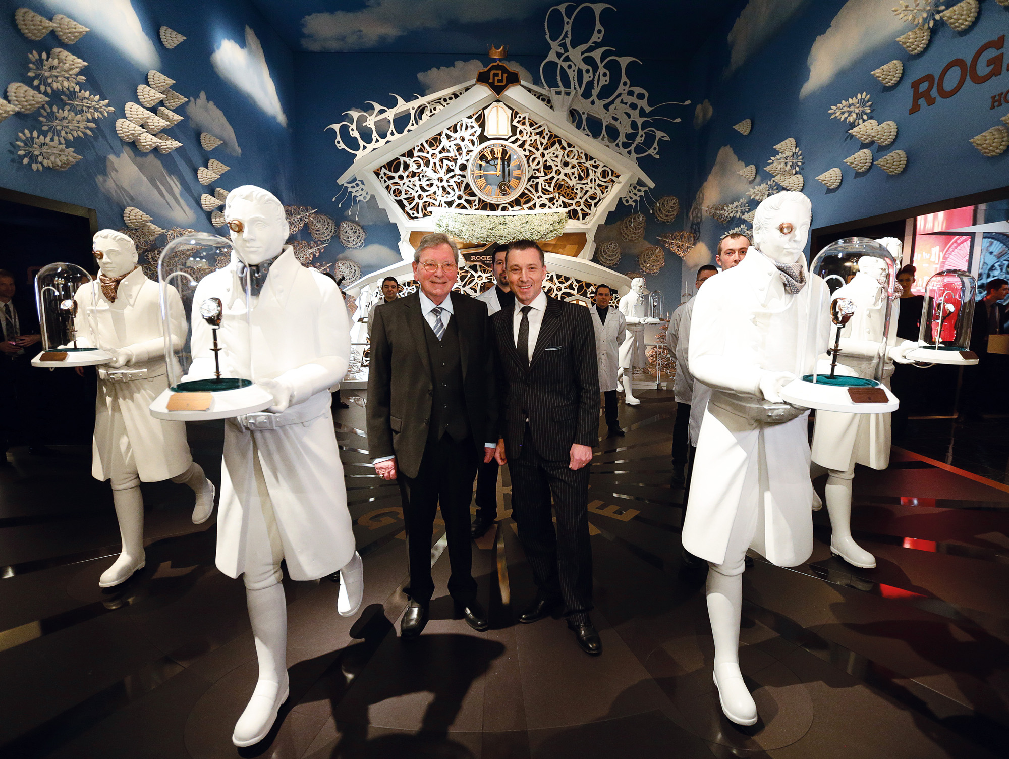 Mr Dubuis standing in front of the Roger Dubuis Stand at SIHH 2014