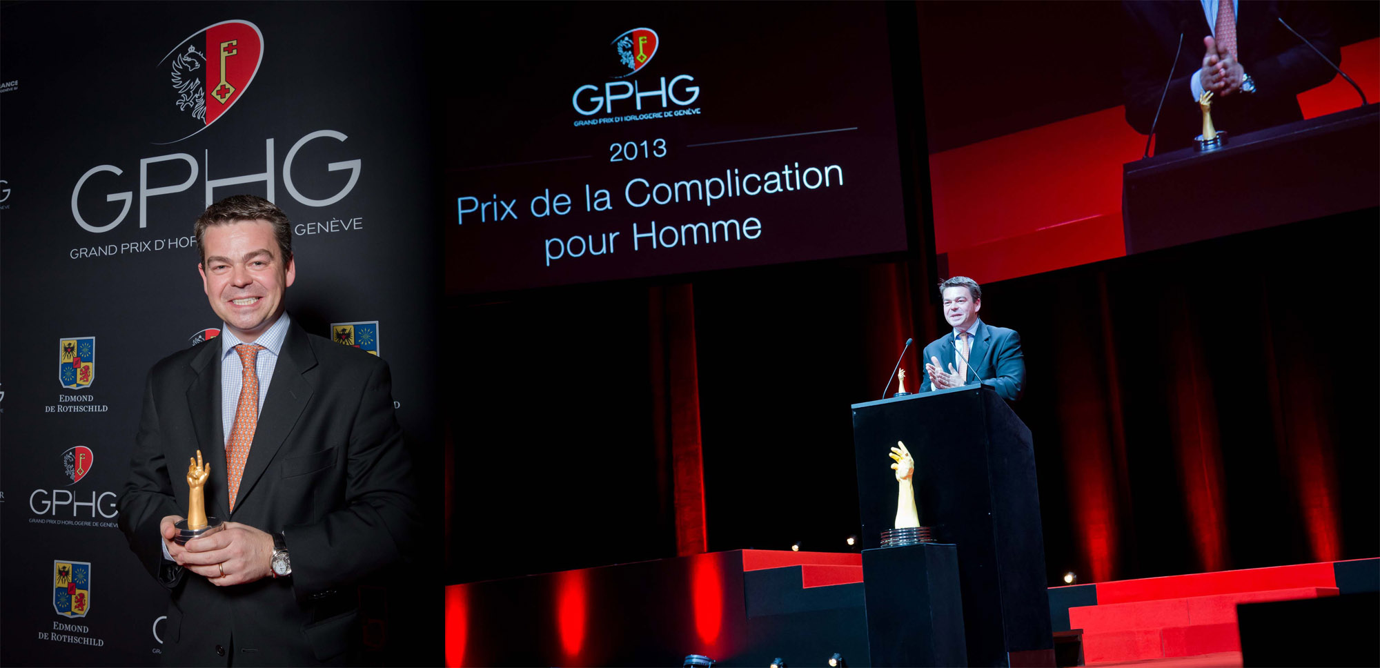 Romain Gauthier receiving his price at GPHG 2013