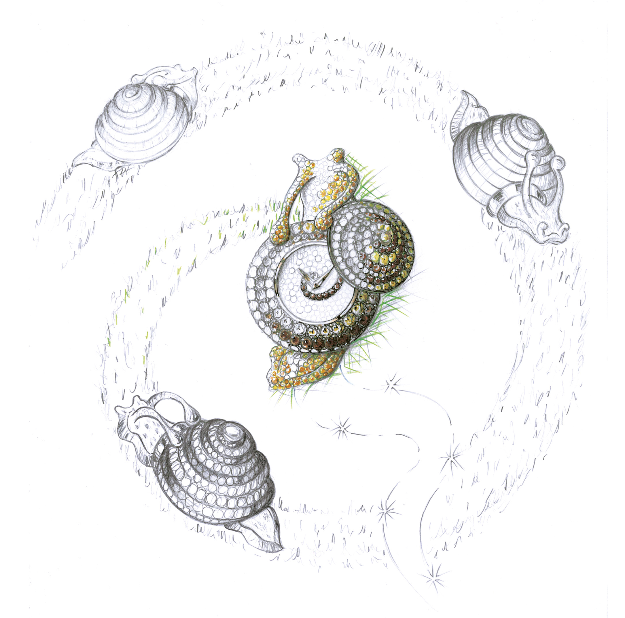 Chopard Haute Joaillerie - Animal World Snail Sketch