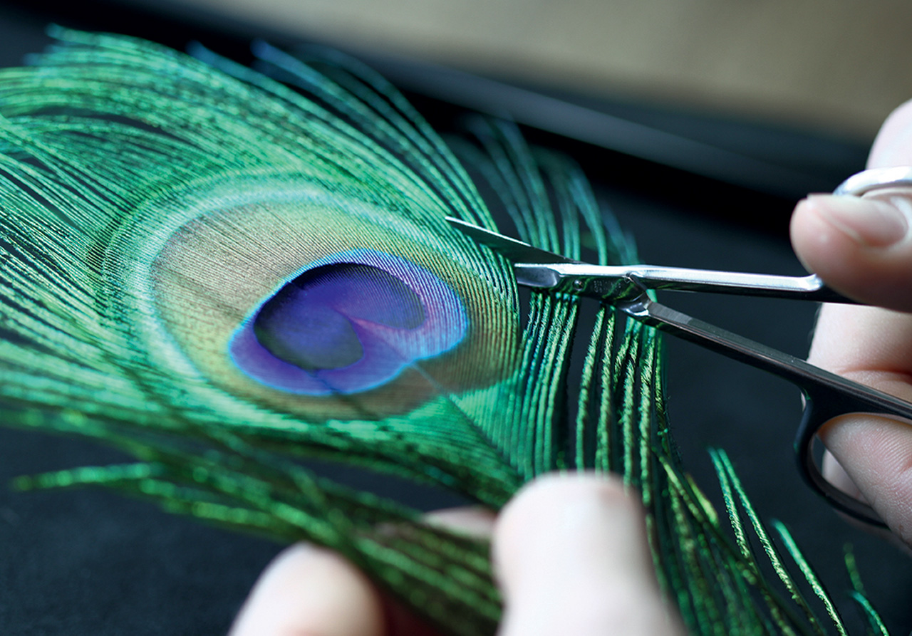 Corum Feather Watch - Artisan at work....