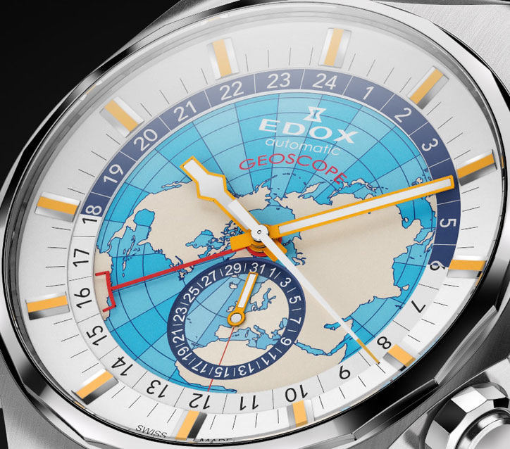 Edox Geoscope GMT Automatic Limited Edition (Ref. 07002) - Dial
