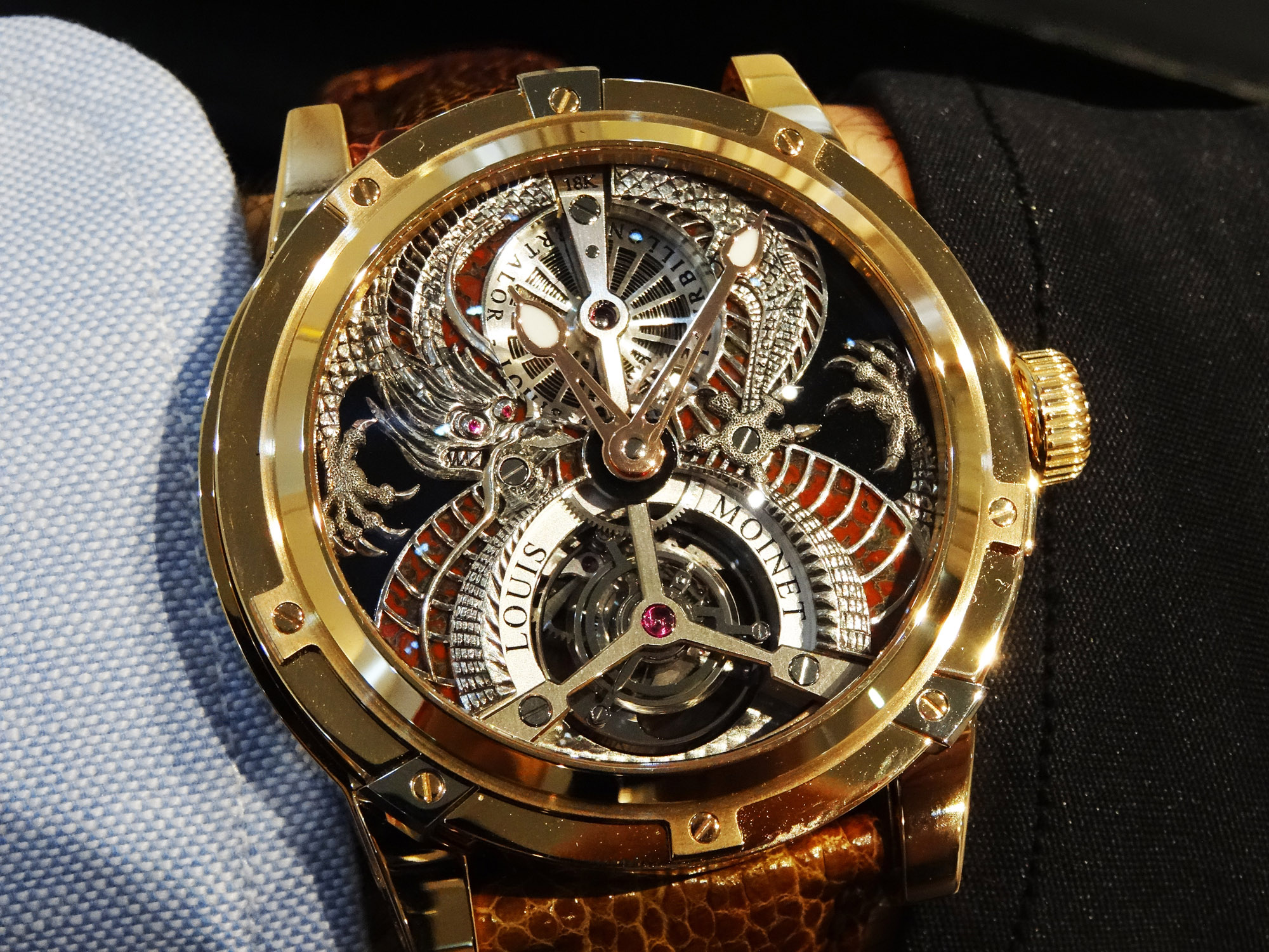 Louis Moinet Dragon Tourbillon - Wristshot