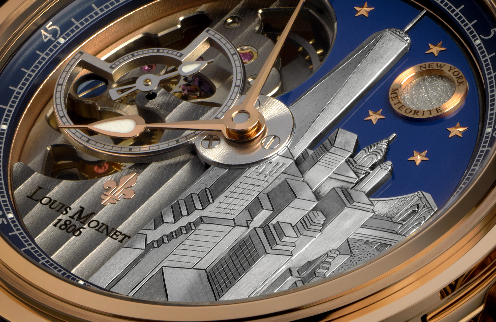 Louis Moinet Mecanograph New York - Dial