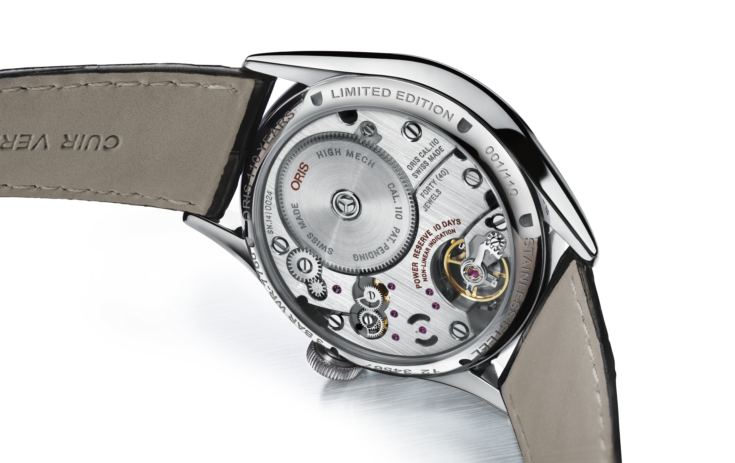 Oris Calibre 110 Watch in Steel - Caseback