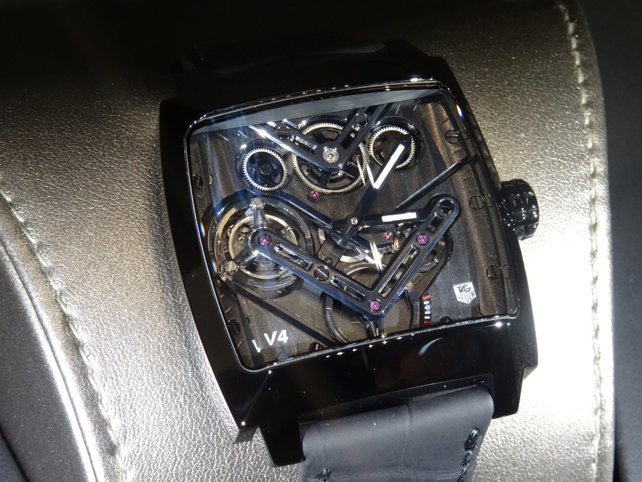 Prototype of the TAG Heuer Monaco v4  Tourbillon - Baselworld 2014