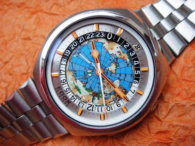 Original Edox Geoscope model from the 1970's ( Credit @ CrazyWatches.pl )