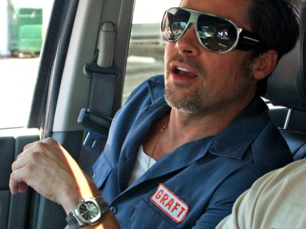 Brad Pitt wearing Patek Philippe Nautilus Ref. 5711/1A