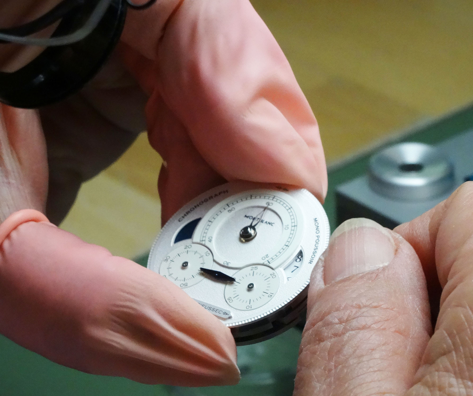Watchmaker checking Course of Hands