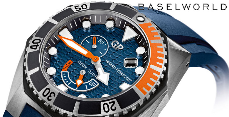 Girard-Perregaux Sea Hawk Blue & Orange - Baselworld 2014