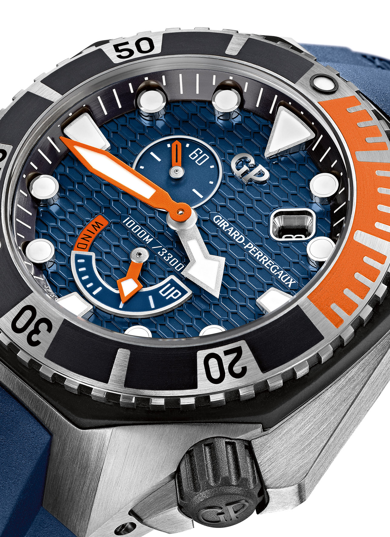 Girard-Perregaux Sea Hawk Blue & Orange - Dial