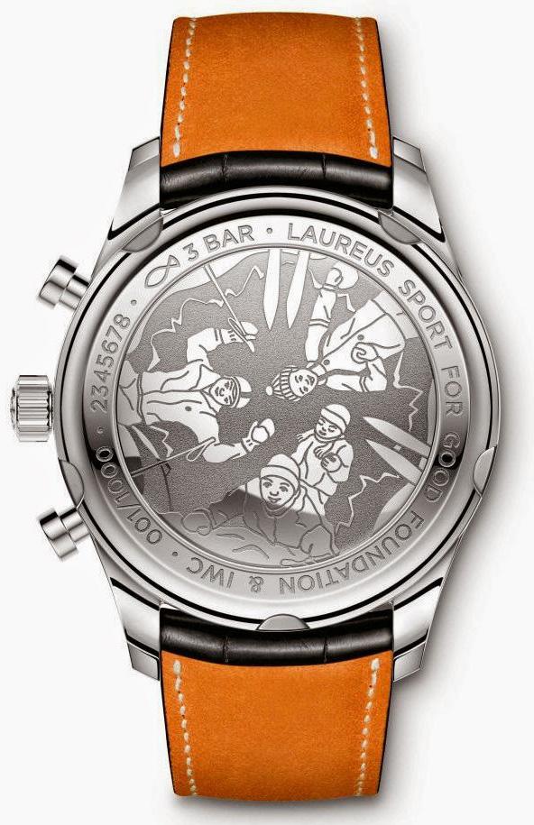 IWC Portuguese Chronograph Classic Edition Laureus Sport - Caseback