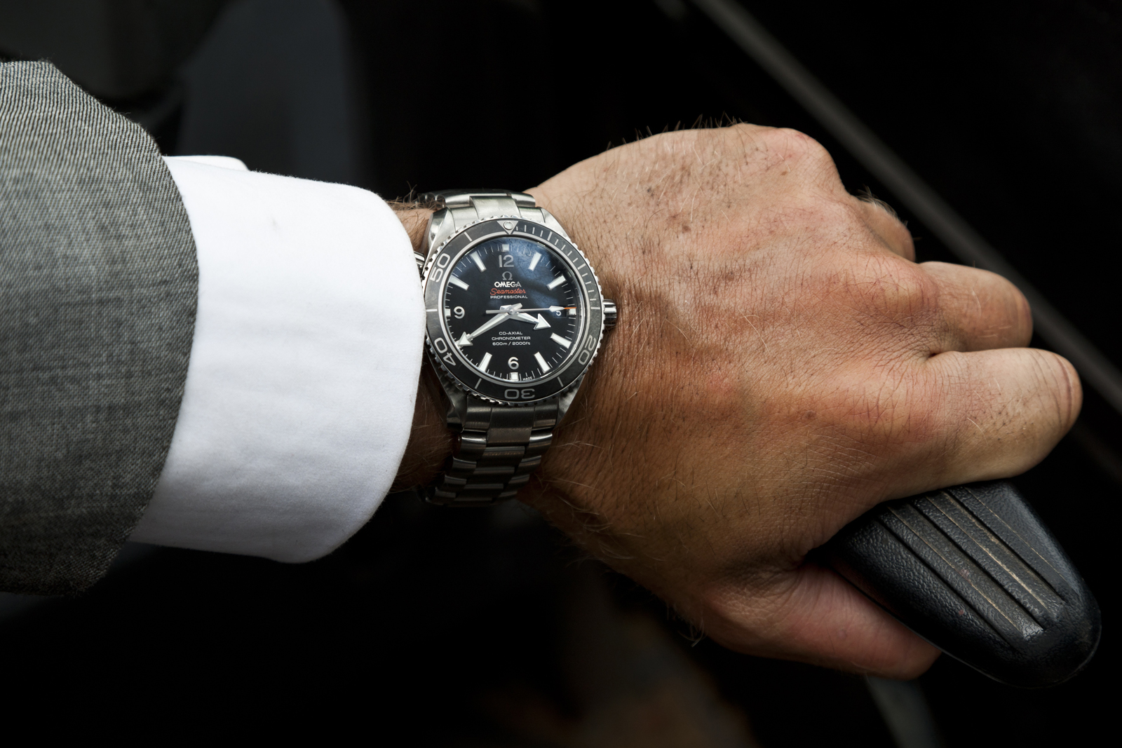 James Bond (Skyfall) Wristshot of the Omega Seamaster Planet Ocean
