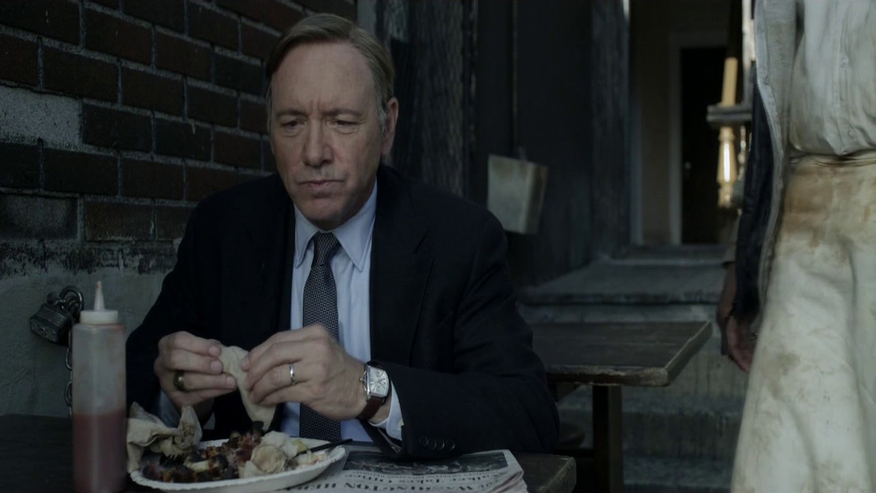 Kevin Spacey in House of Cards wearing IWC Da Vinci Automatic