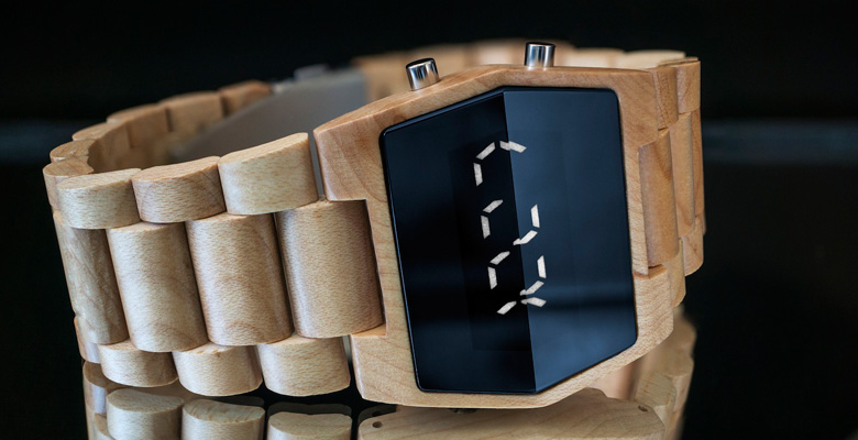 Kisai Xtal Wood LED Watch Design