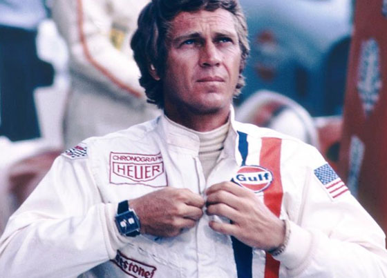 Steve McQueen wearing the TAG Heuer Monaco