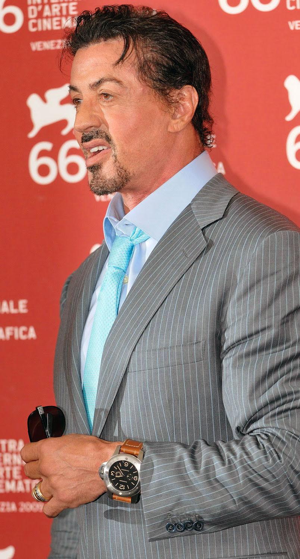 Sylvester Stallone wearing Panerai PAM341
