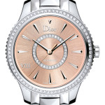 Dior VIII Montaigne Steel and Pink Sun-brushed Steel Dial 32mm