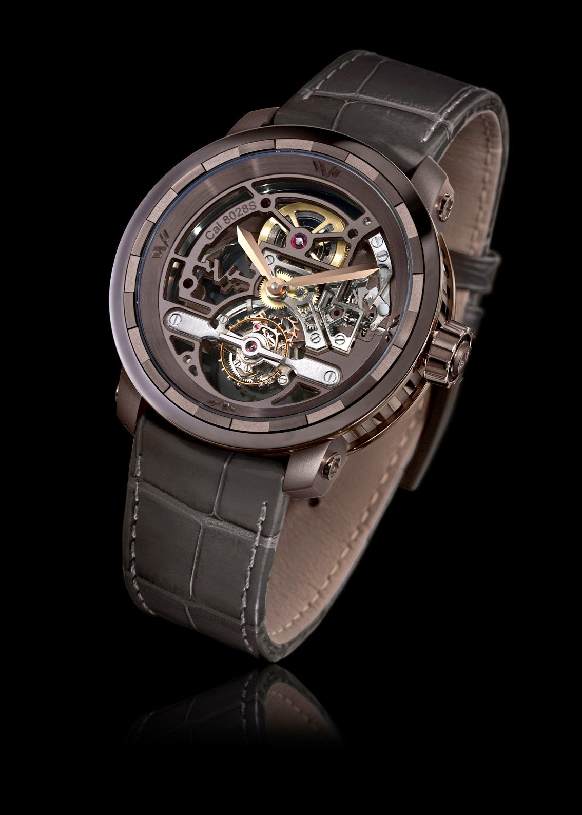 DeWitt Twenty-8-Eight Skeleton Tourbillon - Chocolate