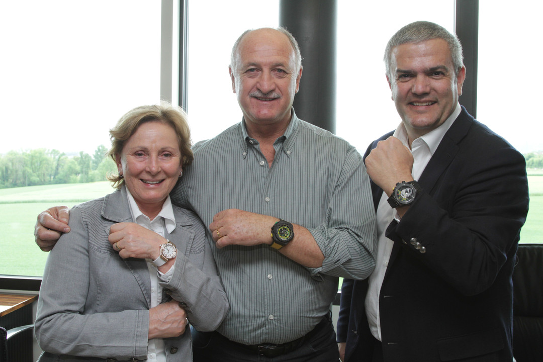 Happier Times - Phil Scolari with Hublot CEO Ricardo Guadalupe