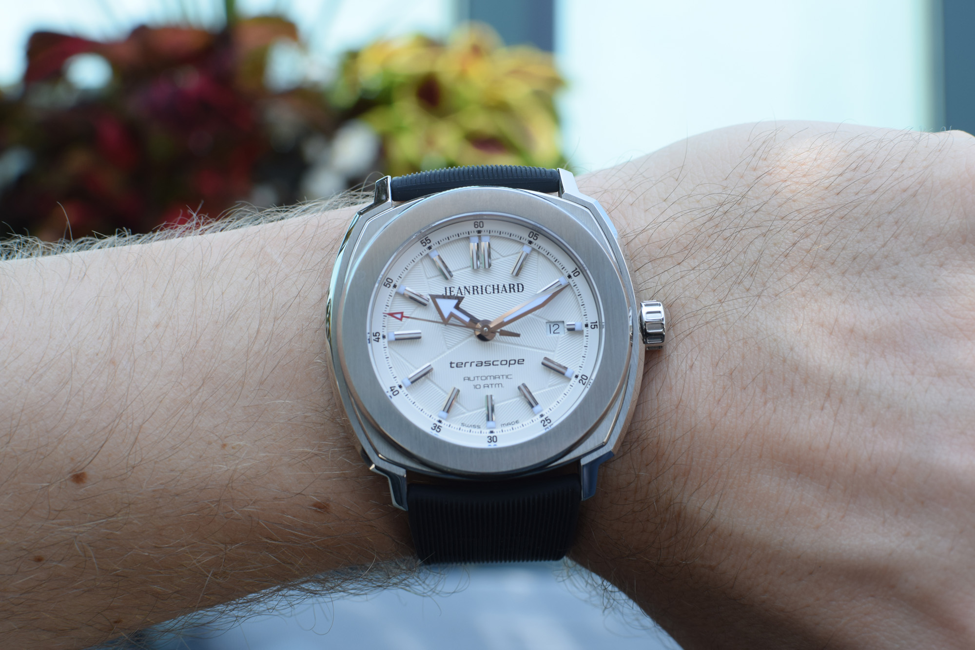 JeanRichard Terrascope White Stamped Dial