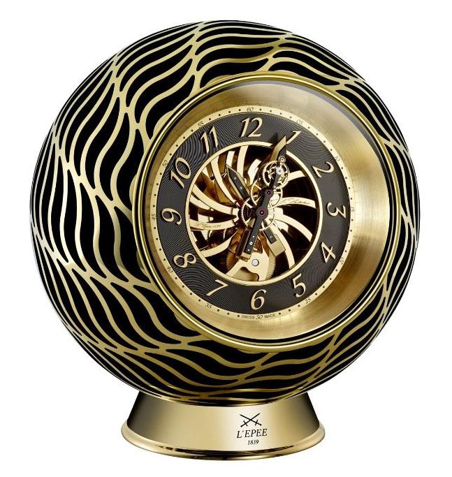 L'Épée Two Hands Flying Tourbillon Clock with Vincent Calabrese (Brass & Gold)