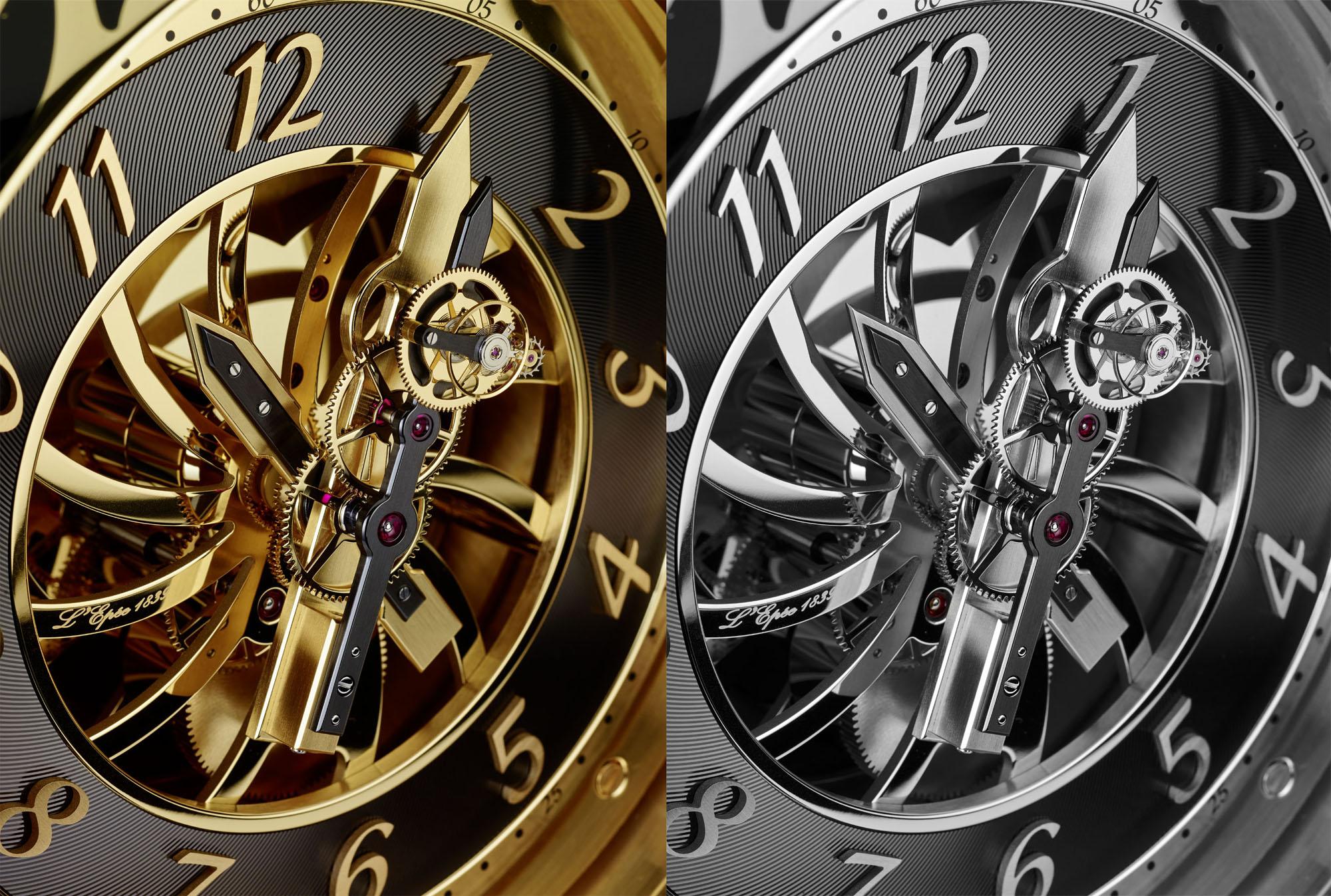 L'Épée Two Hands Flying Tourbillon Clock with Vincent Calabrese